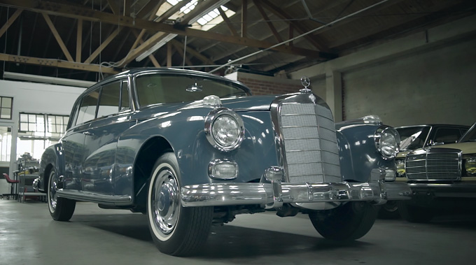 "In 1957, when the Mercedes-Benz 300 was introduced bearing the internal designation 300 d, it was a leader in its class and today, over half a century later, it is still a symbol of luxury. Built for a long useful life and an example for the durability of classic cars, the so-called ""Adenauer Mercedes"" was considered one of the most prestigious and elegant models of its time. The Mercedes-Benz 300 ""Adenauer-Mercedes"". In its last production year, 1962, only forty-six 300 d cars were built, and the Engs' saloon is now possibly one of the best-restored models."