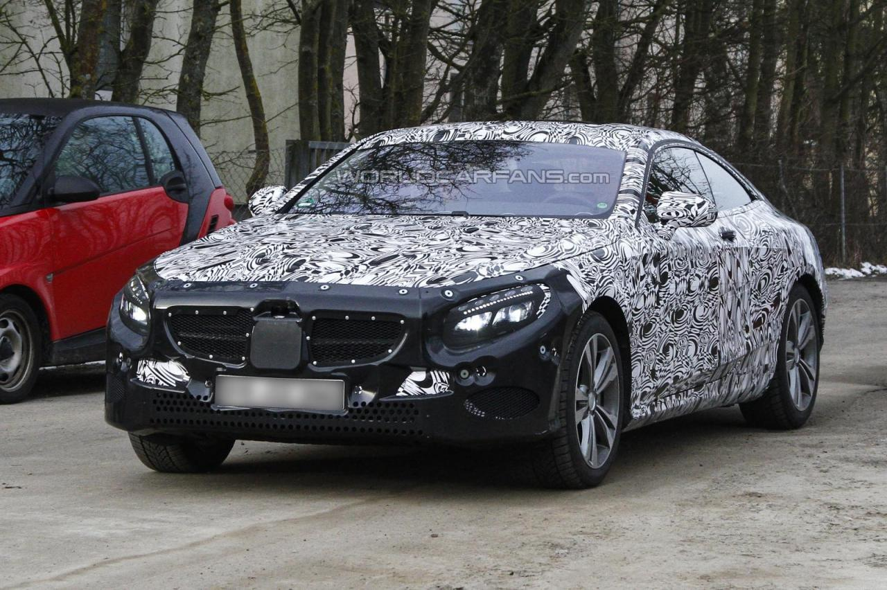Mercedes-Benz S-Class Coupe First Spy Photos