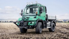 Mercedes-Benz Arocs with agricultural equipment