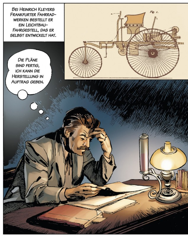 Carl Benz - a life dedicated to cars comic book