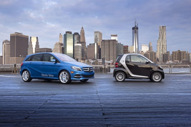 2014 Mercedes-Benz B-Class Electric Drive smart fortwo electric drive