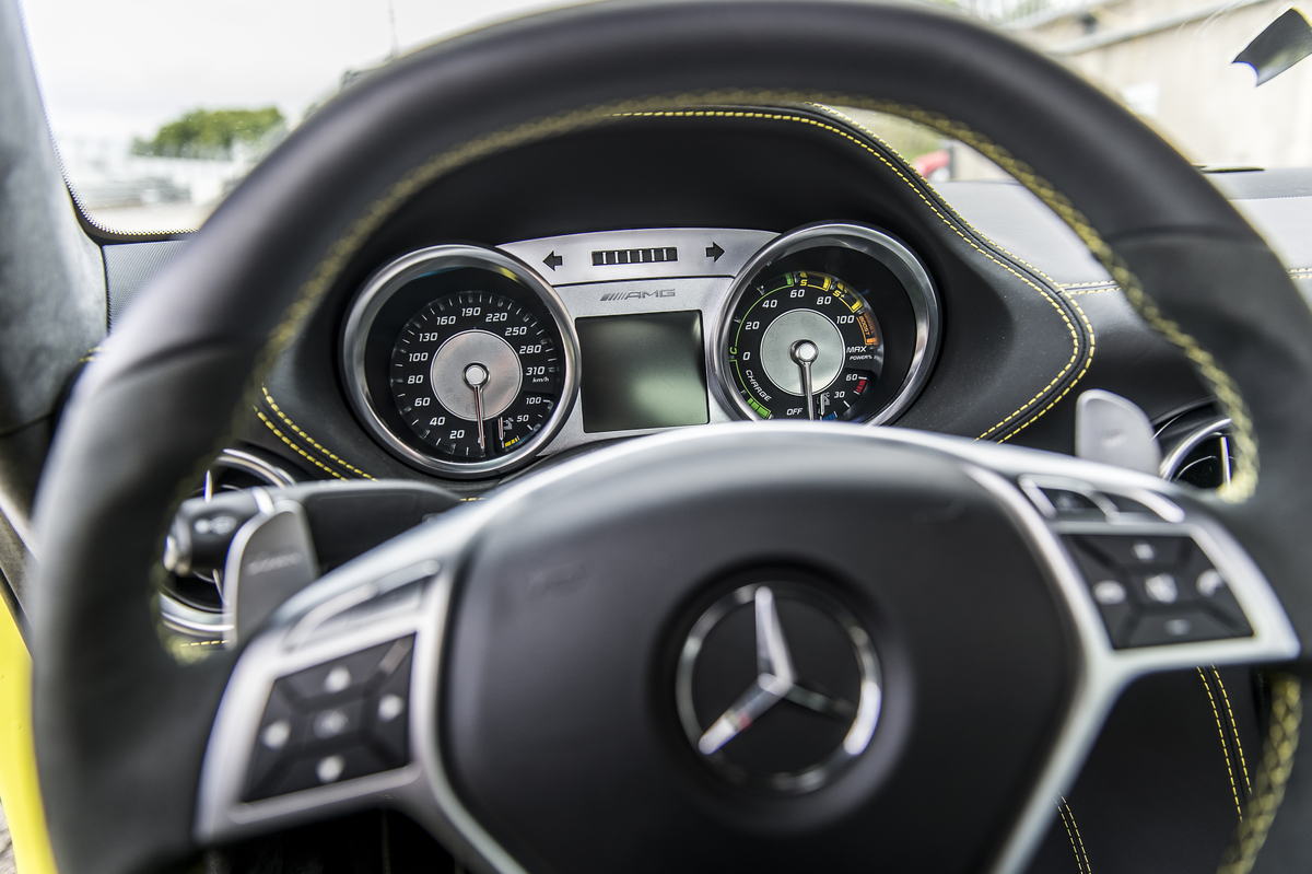 2014 sls amg coupe electric drive production car at the nurburgring interior - Mercedes Benz Sls Amg Interior