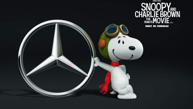 Snoopy, Mercedes-Benz' biggest fan