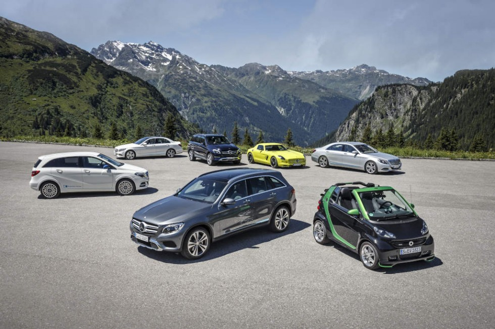 Mercedes-Benz and smart on e-mission in Montafon