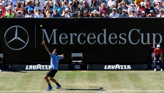 MercedesCup 2018: Roger Federer on court in Stuttgart