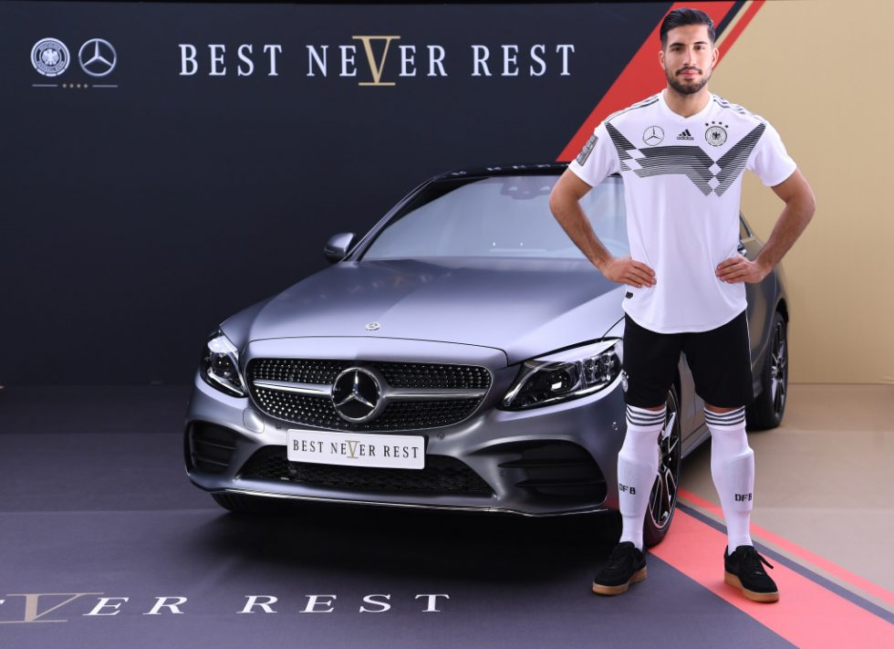 Emre Can (Germany) at the Mercedes-Benz C-class.
