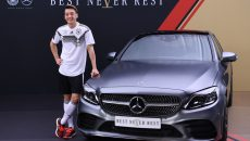 Mesut Özil (Germany) at the Mercedes-Benz C-class.