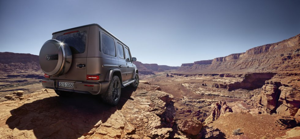 "Image worlds of off-road capability, design and on-road performance, and take on natural elements such as rock and lava formations, and water, which are like the G-class ""stronger than time"". The tonality of the campaign reflects the character of the off-road legend: strong messages in impressive picture worlds."