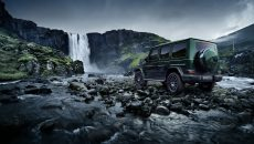 "Image worlds of off-road capability, design and on-road performance, and take on natural elements such as rock and lava formations, and water, which are like the G-class ""stronger than time""."
