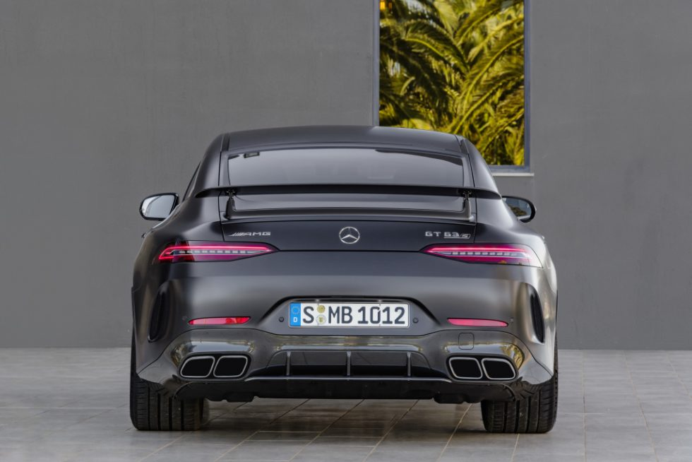 Mercedes-AMG GT 63 S 4MATIC+ 4-Door Coupé, AMG Carbon-packet, Exterior: Exterior paint: graphite grey magno, colour variation black;Fuel consumption combined: 11,2 l/100 km; CO2 emissions combined: 256 g/km* (provisional data)