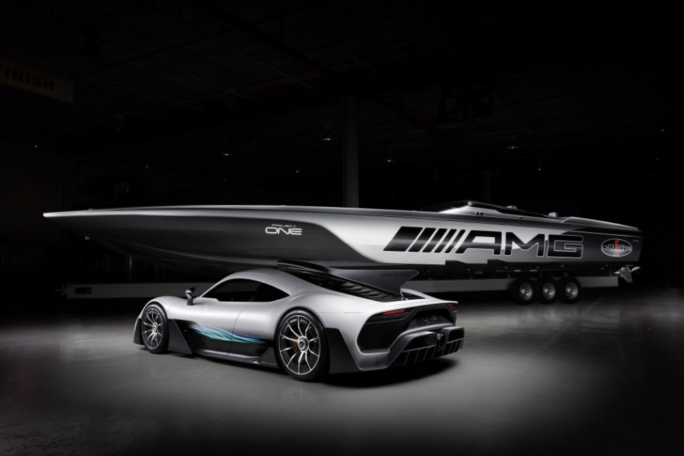 """By directly translating Formula 1 technology from the track to the street, the Mercedes-AMG Project ONE is our most ambitious and awe-inspiring vehicle yet. It is incredible to see our vision reimagined for the water in such an impressive and highly compelling form"", says Tobias Moers, Chairman of the Board of Management of Mercedes-AMG GmbH."