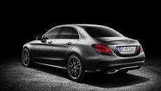 Mercedes-Benz C-Class Sedan AMG line, exterior: designo selenite grey magno, interior: platinium white pea