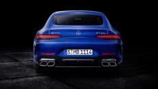 Mercedes-AMG GT 63 S 4MATIC+ 4-Door Coupé, AMG Silver-chrome packet, Exterior: Exterior paint: brilliant blue magno;Fuel consumption combined: 11.2 l/100 km; CO2 emissions combined: 256 g/km* (provisional data)