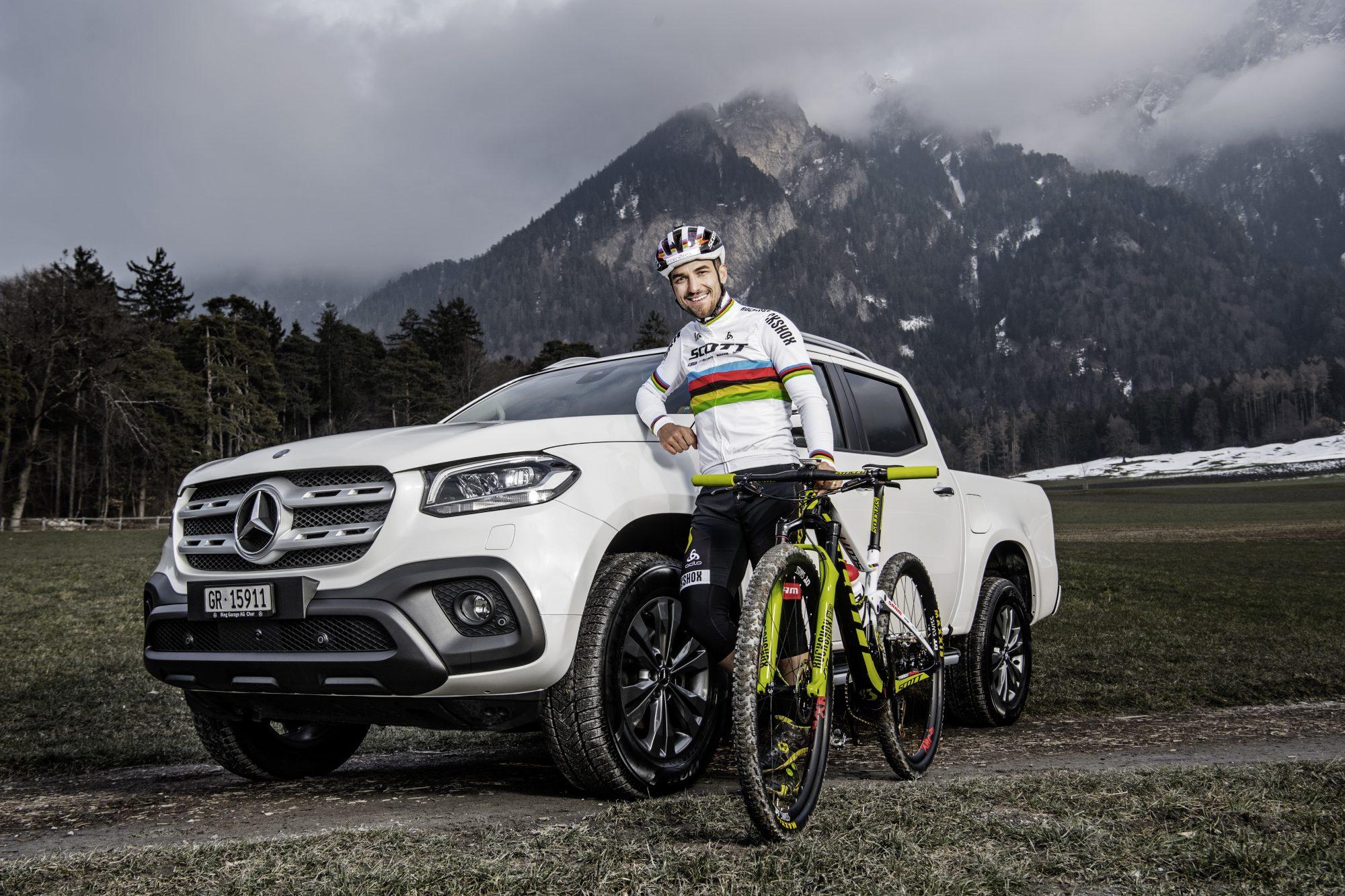 Mercedes-Benz Vans: Sechsfacher Mountainbike-Weltmeister und Olympia-Sieger Nino Schurter wird Markenbotschafter der Mercedes-Benz X-Klasse