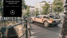 Mercedes-Benz Classic calendar 2019, cover: Mercedes-Benz C 111 in Amsterdam.