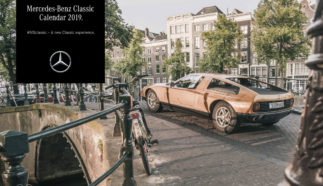 Mercedes-Benz Classic calendar 2019, cover: Mercedes-Benz C 111 in Amsterdam.
