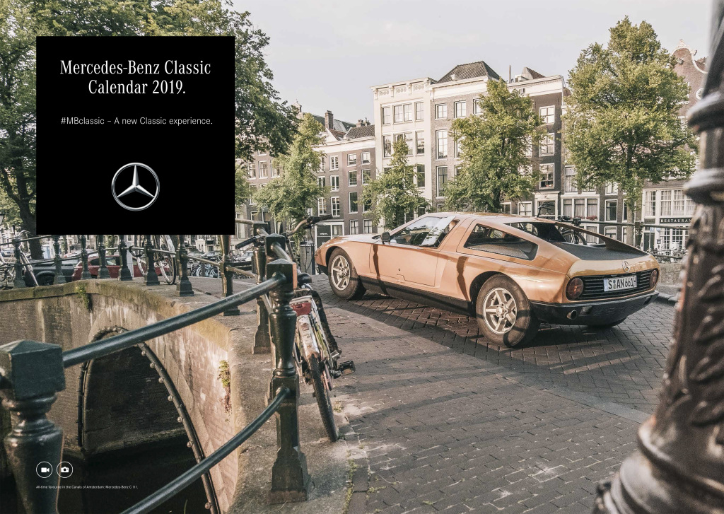Mercedes-Benz Classic Kalender 2019: Mit Augmented Reality durchs Classic-JahrMercedes-Benz Classic Calendar 2019: Through the Classic year with augmented reality