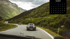 "Mercedes-Benz Classic calendar 2019, subject of August: Mercedes-Benz 300 SL ""Gullwing"" at the Silvretta Classic Rallye Montafon."