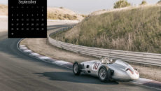 Mercedes-Benz Classic calendar 2019, subject of September: Formula-1- racecar Mercedes-Benz W 196 R in Zandvoort.