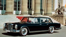 The Mercedes-Benz 600 model line was the best of the best, the top of the line for Mercedes and would go on to inspire the S-Class range. The Mercedes-Benz 600 (W 100) featured: a 6.3-litre V8 engine with petrol injection system and two three-phase alternators; dual-circuit booster brake system with four disk brakes; Automatic transmission; Power steering with tilt steering wheel; Locking differential; Air suspension; Adjustable shock absorber, control on the steering column; Convenience hydraulic system for adjusting the seats, windows and morel; Electronically controlled heating, forced ventilation, optional extra: cooling system; and Central locking of doors, boot lid and fuel filler flap.