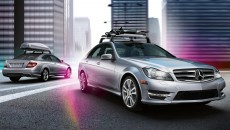 2012 Mercedes C-Class with Roof Rack