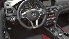 2012 Mercedes C63 AMG Coupe Grey steering wheel