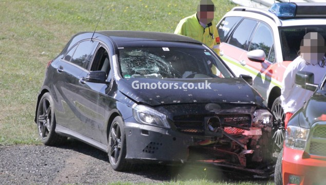 Mercedes A45 AMG Crashes at Nürburgring