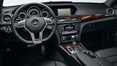 2013 Mercedes C-Class Coupe Interior in Black with Burl Walnut