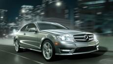 2013 Mercedes C-Class Coupe C250 in Iridium Silver