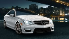 2013 Mercedes C-Class Coupe in Polar White