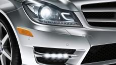2013 Mercedes C-Class Coupe bi-xenon lights