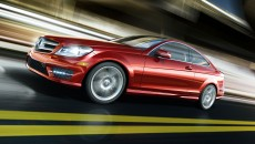 2013 Mercedes C-Class Coupe C250 in Mars Red