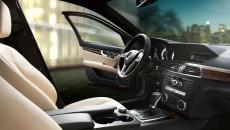2013 Mercedes C-Class Sport Sedan interior in Sahara Beige Leather