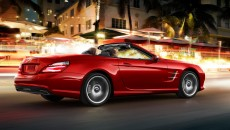 2013 Mercedes SL Roadster in Mars Red