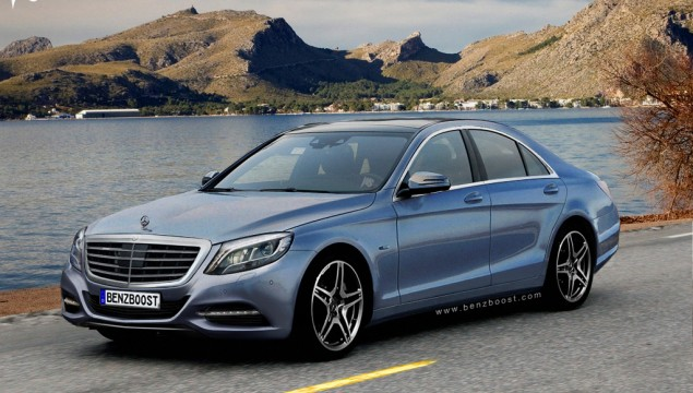 2013 Mercedes-Benz S-Class Spied with Minimal Coverage