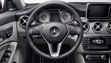 2014 Mercedes CLA250 interior in Ash with Anthracite trim and silver instruments