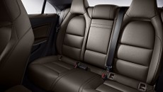2014 Mercedes CLA250 interior in Brown leather with standard sport seating