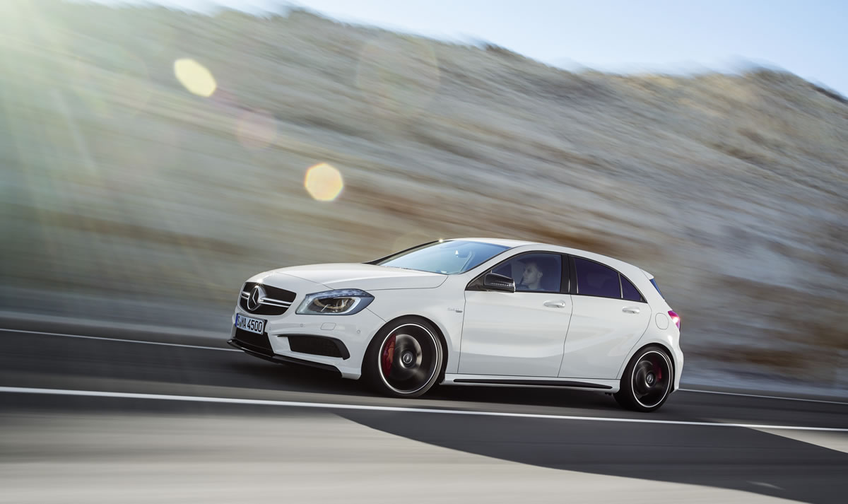 Mercedes A45 AMG Official Reveal Photo Gallery 2014 Mercedes A45