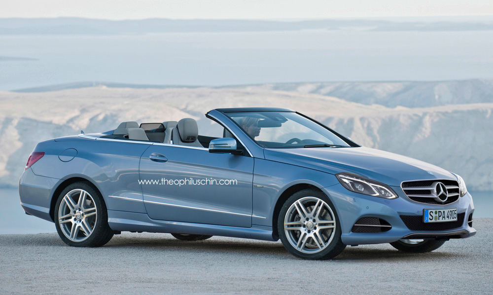 2014 Mercedes-Benz E-Class Convertible Facelift Renderings ...