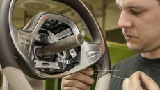 Mercedes-Benz S-Class hand-finished elements. The steering wheel in the new S-Class is sewn by hand