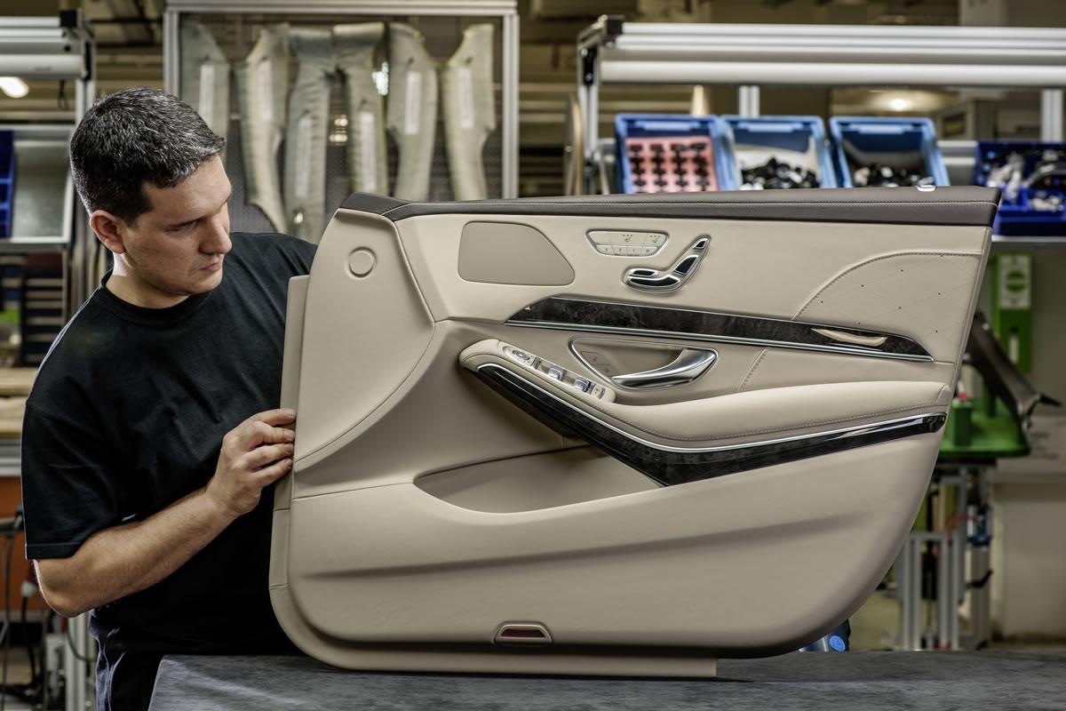 mercedes benz s class interior the door trim is finished by hand - Mercedes Benz 2014 S Class Interior