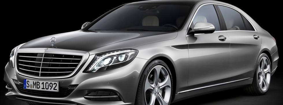 A completely undisguised Mercedes-Benz S-Class shed all of it's camouflage for an advertising shoot in Germany