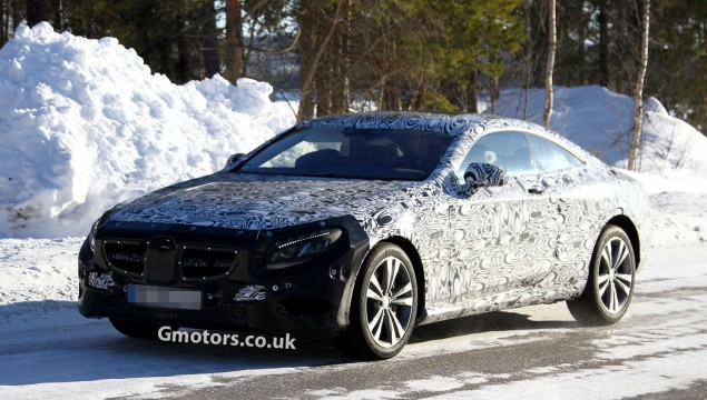 Mercedes S-Class Coupe Clearly Spied Testing in Arctic Circle