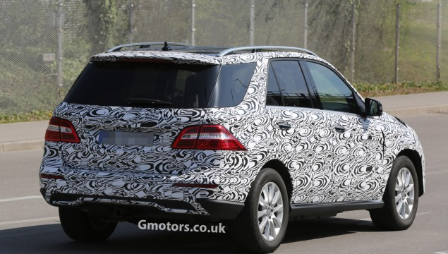 First Spy Photos of the 2015 Mercedes-Benz M-Class