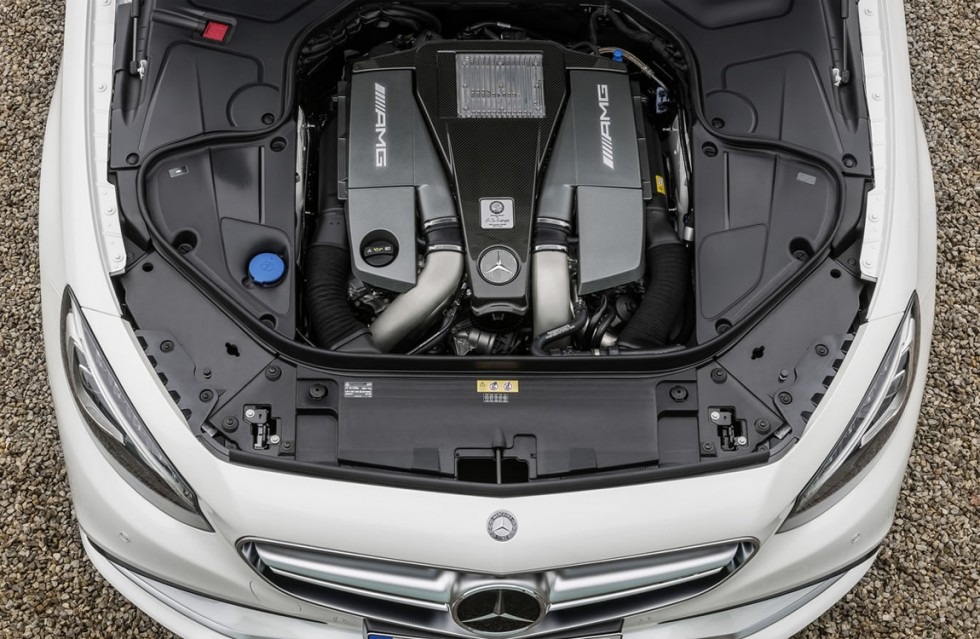 2015 Mercedes S63 AMG Coupe engine