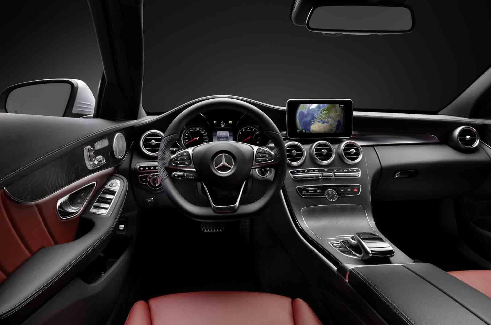 2015 mercedes benz c class teaser video and interior photos