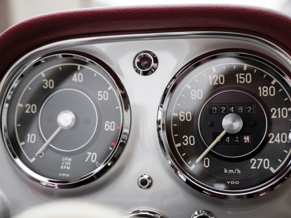 1955 Mercedes-Benz 300 SL Alloy Gullwing speedometer