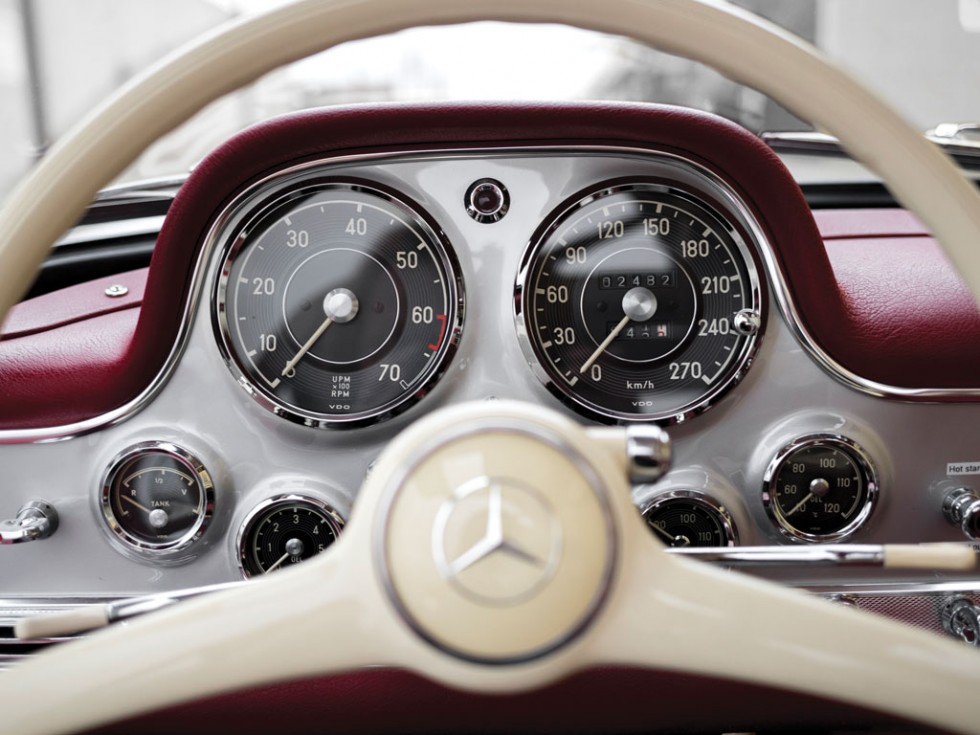 1955 Mercedes-Benz 300 SL Alloy Gullwing steering wheel