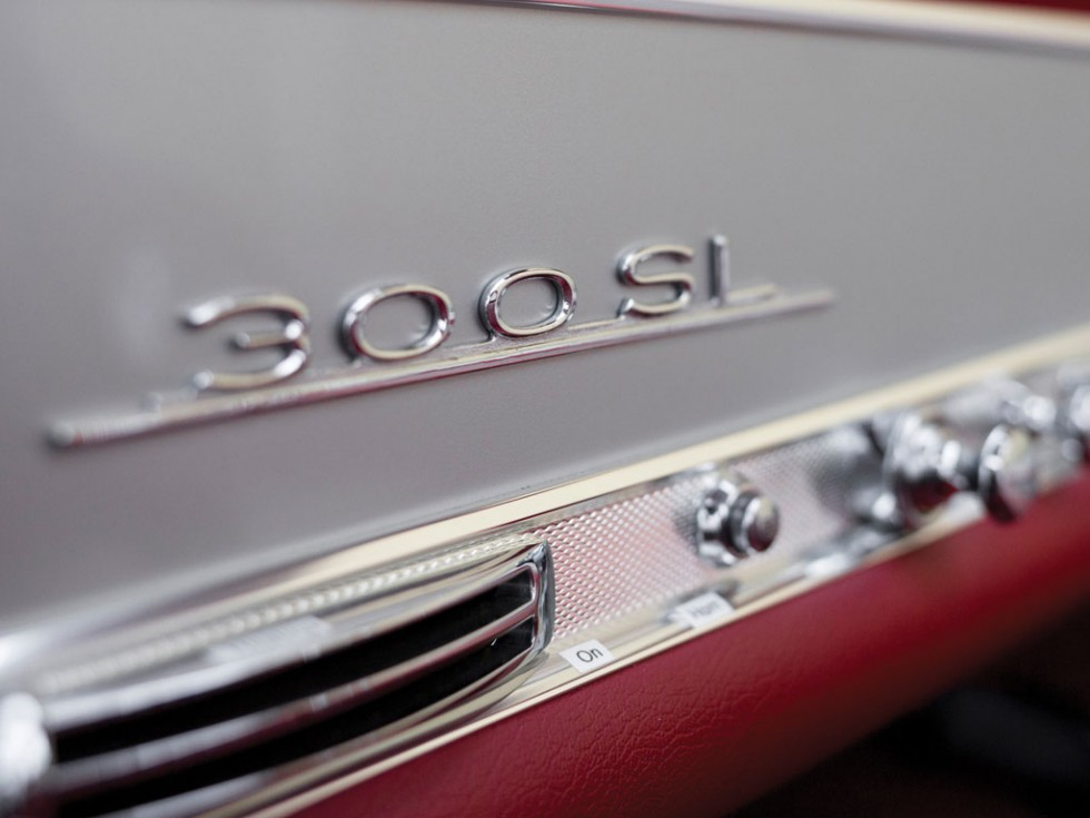 1955 Mercedes-Benz 300 SL Alloy Gullwing badge