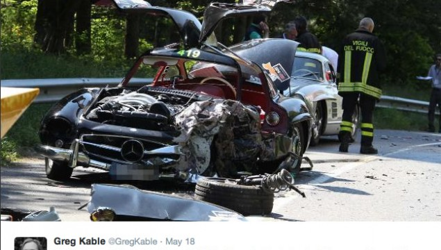 Mille Miglia Crash Claims Life of Mercedes Gullwing